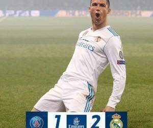 Cristiano Ronaldo comemora vitória do Real Madrid sobre o PSG - Divulgação/Real Madrid